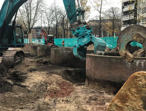 De werkzaamheden voor het Holocaust Namenmonument in Smsterdam zijn begonnen